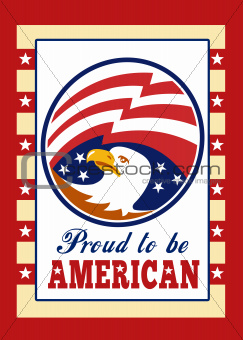 American Proud Eagle Independence Day Poster Greeting Card
