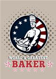 World's Greatest Baker Greeting Card Poster