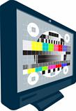 LCD Plasma TV Television Test Pattern