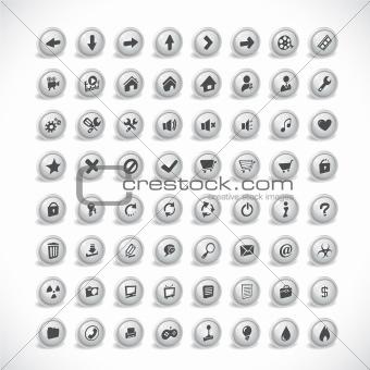 3d buttons. Vector.
