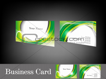 abstract glossy green business card