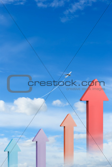 Graph in blue sky
