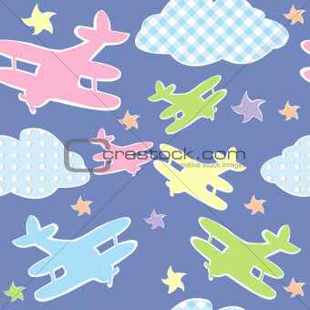 Background for kids with toy planes