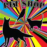 Pet shop advertising with pets silhouettes