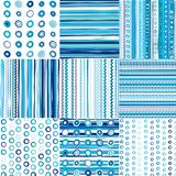 Set of blue seamless pattern for baby boys