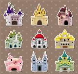 cartoon Fairy tale castle stickers