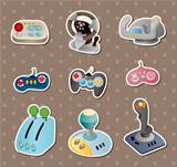 cartoon game joystick stickers