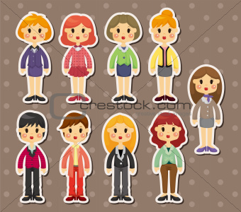 office woman stickers