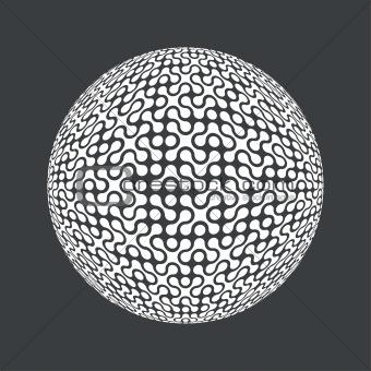 Abstract retro technology circle. Vector, EPS8