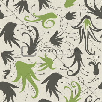 Abstract floral seamless pattern. Vector, EPS10