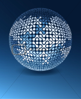 Globe network concept with copy space. Vector illustration, EPS1