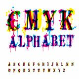 CMYk alphabet. 