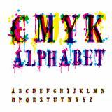 CMYk alphabet.