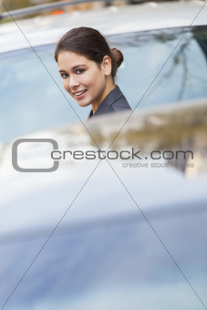 Young Woman or Businesswoman in City