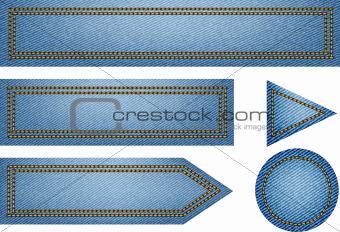 Jeans texture web elements