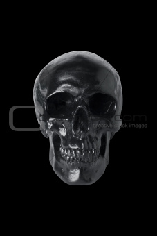 Black skull isolated