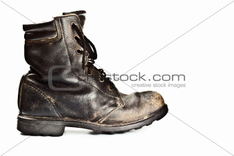 old army style boot
