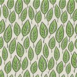 Green abstract leaf seamless pattern on recycle ecology paper te