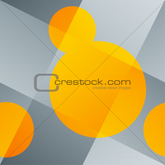 Seamless abstract background with woven backdrop and orange roun