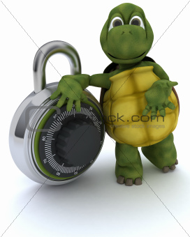 tortoise with combination padloack