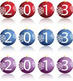 Illustration of New Year balls in 2013