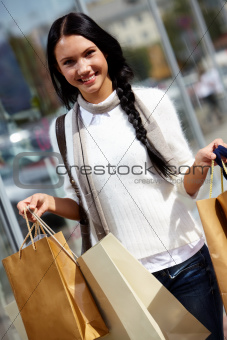 Woman with paperbags