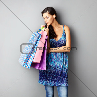 Pensive shopper