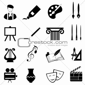 Arts icon set