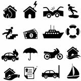 Insurance icon set