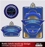 Bottle labels mock-up design