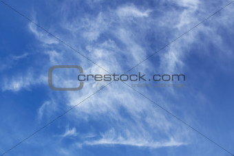 Abstract oblong clouds