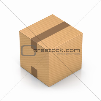 Brown sealed cube boxes.