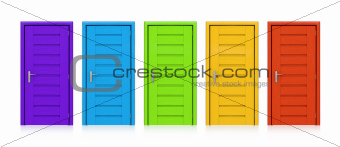 Colorful Doors.