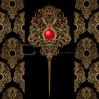 Classic Decoration With Wallpaper Background