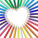 colored pencils heart