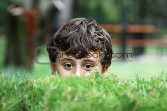 Boy spying