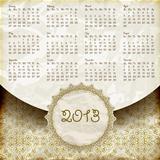 Vector 2013 Calendar in Retro Style