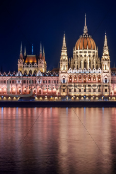Photo of the Hungarian parliament