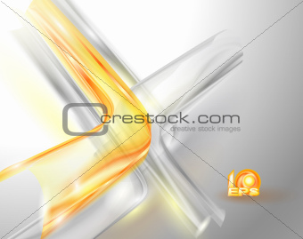Abstract gray background with yellow elements