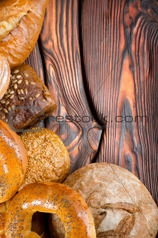 An assortment of bakery breads