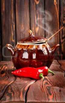 Food in a pan