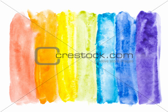 Abstract watercolor rainbow colors