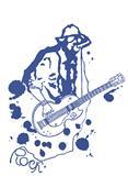 The rock musician