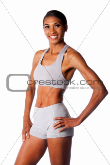 Happy smiling female athlete