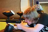 Teen Boy Aiming Paintball Gun