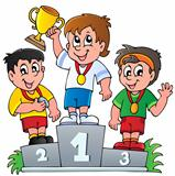 Cartoon winners podium
