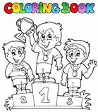 Coloring book winners podium