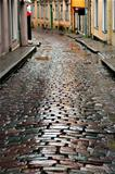 Wet street in Tallinn
