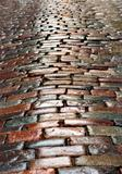 wet cobblestones