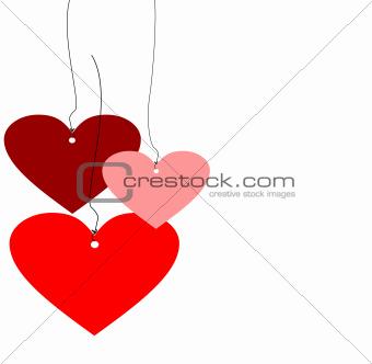 Three Hearts in colour